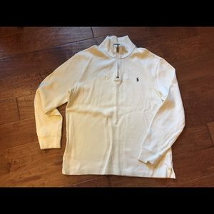 Men's Polo by Ralph Lauren white knit pullover LG